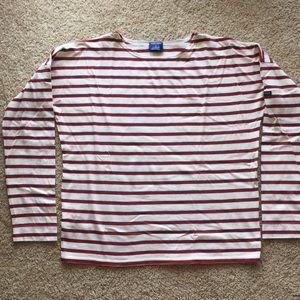 Saint James for JCrew long sleeves striped shirt